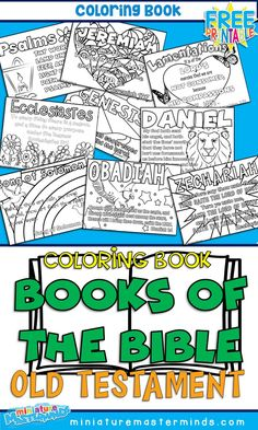Books Of The Old Testament Coloring Pages Color your way through the books of the Old Testament! All 39 books of the Old Testament are represented in a coloring page with the book's name and … Bible Activities For Kids, Bible Study For Kids, Sunday School Activities, Bible Lessons For Kids, Sunday School Lessons, Kids Bible, Bible Bible, Bible Games, Books Of Bible