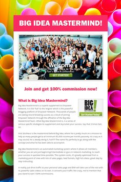 Big Idea Mastermind! Earn 100% commission now! www.bimbig.com #big_idea_mastermind