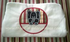 Elephant applique by TheEmbroideryPalace on Etsy, $22.00
