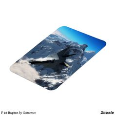 F 22 Raptor Rectangular Photo Magnet F22 Raptor, Photo Magnets, Refrigerator Magnets, Fighter Jets, Hunting