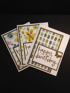 Watercolor Words, English Garden, Birthday Card, Stamp a Stack, Stampin' Up!, Rubber Stamping, Handmade Cards