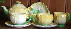 *Carlton Ware Buttercup* Beautiful Vintage Tea Set for Two! Wedding/Tea Party