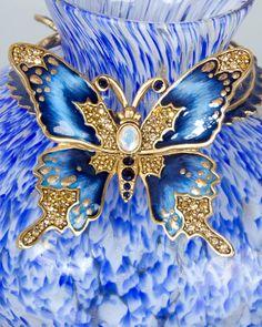 Jay Strongwater Lorelei Butterfly Vase