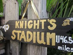 How many miles are YOU to the Knights' stadium? #ucf #knights. Fall craft night project?