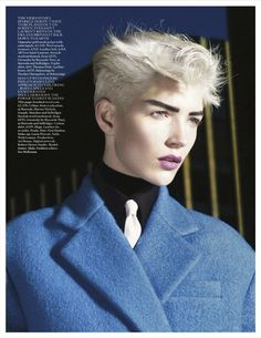 boy talk: janice alida by david sims for uk vogue september 2012