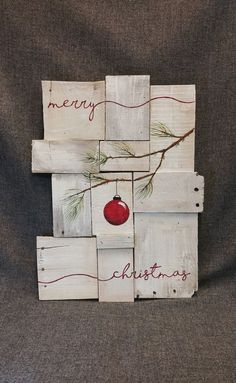 Rustic Christmas decor, Pallet art, Farmhouse decor, One of a kind, merry christmas, ORIGINAL, Christmas Handpainted, Shabbt chic rustic