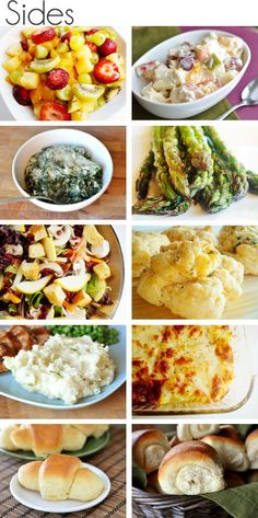 Side dishes! Sometimes I get stuck on what side dishes to make this is great!