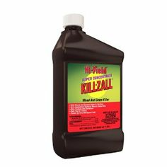 Voluntary Purchasing Group Fertilome 33692 Killzall Weed and Grass Killer, 32oz. Super Concentrate by Hi-Yield. $14.32. Double-surfactant formulation that dries on plants fast to start working quickly. Weed and grass killer- 41-percent glyphosate. Multiple use formulation.. Short, concise consumer-friendly label. Non-selective weed and grass killer, contains a double-surfactant formulation that dries on plant fast to start working quickly. Application rates: ? Gene...