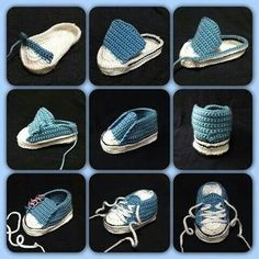 Crochet Converse Baby Booties Pattern Free Video Tutorial Crochet Baby Converse Free Pattern More Knitting works add the time when ladies spend their time to yourself, when they . Crochet Converse, Booties Crochet, Crochet Baby Shoes, Crochet Slippers, Crochet Clothes, Baby Slippers, Knit Baby Booties, Knitted Baby, Baby Converse