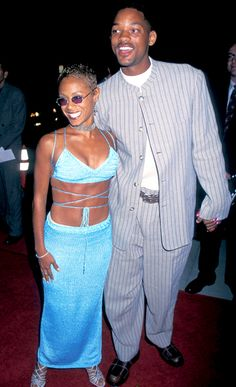 Blue was the color of choice for Jada when she and her then-boyfriend, Will Smith, attended 1995's Devil in a Blue Dress premiere in Beverly Hills.