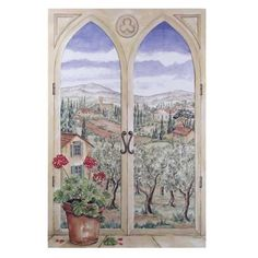 Tuscany Faux Window Stupell Industries Plaque Wall Decor Home Decor