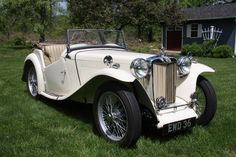 This 1946 MG TC was the 527th built and was restored in England in the 1980s. The car has its original 1250cc engine, a 4-speed manual, soft top, and side curtains. Work during the restoration included front-end and rear-end rebuilds, lighting upgrades for safety, and a seating position change for c