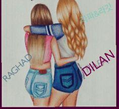 Best friends drawing dibujos, dibujos de bff e amistad dibujos. Tumblr Drawings, Bff Drawings, Drawings Of Friends, Tumblr Art, Easy Drawings, Pencil Drawings, Cute Drawings Of Girls, Outfit Drawings, Drawings Of People Easy