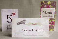 "Place-card / plic de bani nunta vintage travel – ""ROSA"" Vintage Travel, Place Cards"
