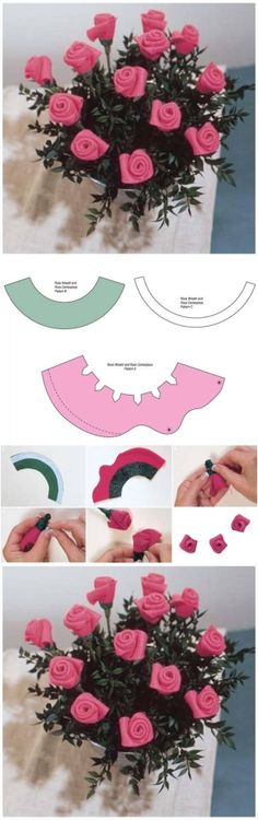 DIY Template Felt Rose Bouquet DIY Template Felt Rose Bouquet by diyforever