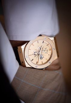 These watches scream style and elegance~ Hublot! Stylish Watches, Luxury Watches For Men, Cool Watches, Hublot Watches, Men's Watches, Latest Watches, Fashion Watches, Hublot Classic Fusion, Limited Edition Watches