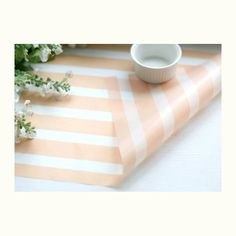 Light Pink Wide Stripe Wax paper - 25 sheets(swp0038). $2.70, via Etsy.