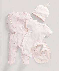 Girls Pink Four Piece Gift Set - Newborn Gift Ideas - Mamas & Papas