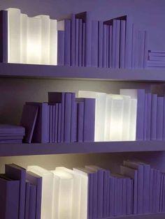 Handmade blown #glass table #lamp BIBLIO by 22 22 EDITION DESIGN | #design Jean-Claude Cardiet #books