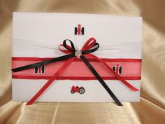 Case IH  Inspired Wedding Guest Book by StarBridal on Etsy, $34.95