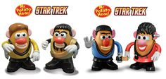 STAR TREK MR. POTATO HEAD SETS - SPOCK & UHURA,  too funny!