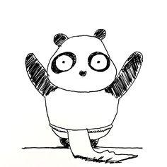 【一日一大熊猫】2017.2.14 ふんどしの日。 今日はバレンタインデーだからふんどしをプレゼントしよう。 #パンダ #ふんどし