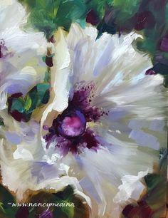 White Wing Poppies  -- Nancy Medina