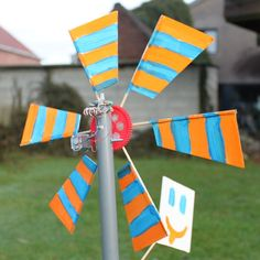 Make a small wind turbine that kids can help build