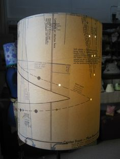 A sewing pattern lampshade made at a hopeandelvis.com workshop.