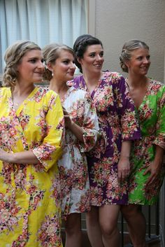 Real life Sample - Bridesmaids Robes made From C11 Fabric Pattern Yellow  Bridal Showers fcc6ca796