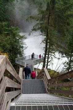Elk Falls, Vancouver Island has an incredible suspension bridge and viewing platform