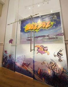 These BozBoz graphics were applied to a glass surface. It looks like a solid wall rather than glass! Window Glass Design, Window Graphics, Your Image, Films, Surface, Windows, Display, Wall, Movies