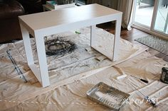 Excellent Table Saws, Miter Saws And Woodworking Jigs Ideas. Alluring Table Saws, Miter Saws And Woodworking Jigs Ideas. Small White Desk, Modern White Desk, White Desks, Diy Wooden Projects, Home Projects, Cheap Furniture, Furniture Design, Furniture Vintage, Woodworking Jigsaw