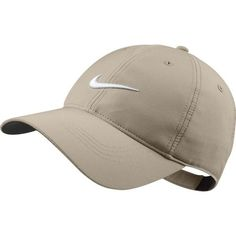 Nike Tech Swoosh Cap - Variety Of Colors Available (Khaki) ($22) ❤ liked on Polyvore featuring accessories, hats, nike hat, nike, nike cap, khaki cap and caps hats