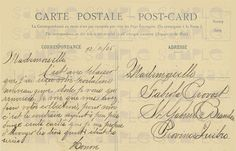 French Script to Quebec 1905 French Postcard Photo by jdayminis