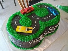 year old race track cake. 3 Year Old Birthday Cake, 3rd Birthday Cakes, Boy Birthday, Birthday Ideas, Race Track Cake, Race Car Cakes, Cakes For Boys, Boy Cakes, Cake Pictures