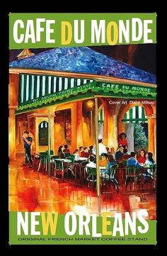 New Orleans - Cafe du Monde beignets and chicory cafe au lait. Extra powdered sugar, of course!!!