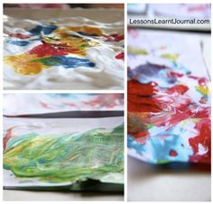Create beautiful marbled paper with shaving cream today. It's easy and your kids will love it.