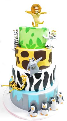 Madagascar Cake don't even know if this is Disney meh.