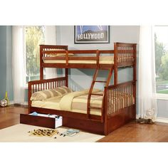 This bunk bed arrives with 2 drawers for extra storage. This bunk bed also can be used as 2 stand alone beds.