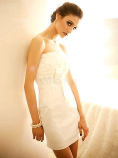 #Milanoo.com Ltd          #Mini Dresses             #Cute #Slimming #White #Polyester #Strapless #Mini #Dress                     Cute Slimming White Polyester Bow Strapless Mini Dress                                                  http://www.seapai.com/product.aspx?PID=5757897