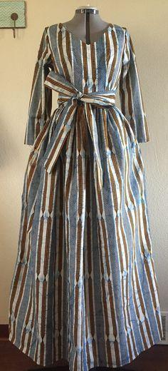 Simplement superbe robe Maxi Wax African ~ African fashion, Ankara, kitenge, Kente, African prints, Braids, Asoebi, Gele, Nigerian wedding, Ghanaian fashion, African wedding ~DKK