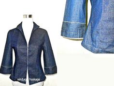 Autumn / Fall Sale: dark denim jacket (small to medium) to by VintageHomage