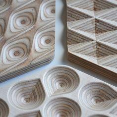 Wooden Trivet & Centerpiece Diamond Plywood by ObjectsbyMedio
