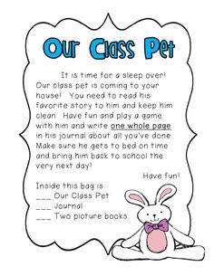 Class pet, what a cute idea! Love this idea!!  I still remember Pee Wee the Penguin from 4th grade. :-). It was the only time I enjoyed writing!!