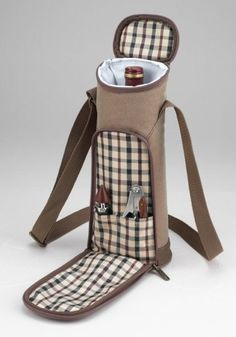 Picnic At Ascot New Hudson Single Bottle ToteI pinned this Hudson Wine Tote from the Picnic for Two event at Joss and Main! Wine Carrier, Bottle Carrier, Bottle Bag, Wine Supplies, Picnic At Ascot, Wine Bottle Covers, Wine Tote, Cloth Bags, Bar Tools