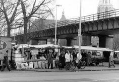 Rotterdam - Binnenrotte, markt 27-01-1987