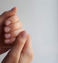 Nude Nails, Nail Manicure, Acrylic Nails, Nail Jewels, Round Nails, Minimalist Nails, Makeup Inspiration, Nail Designs, Hair Makeup
