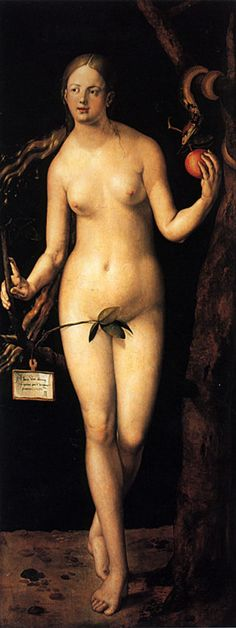 Albrecht Dürer, Eve (Eva), Oil on panel, 209 x 80 cm - Museo Nacional del Prado, Madrid. Albrecht Durer, Hans Holbein, Framed Art Prints, Painting Prints, Oil Paintings, Artist Canvas, Canvas Art, Hans Baldung Grien, Hans Thoma