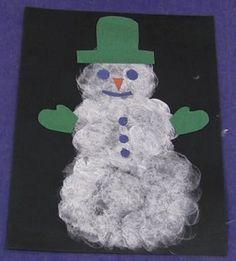 Marshmallow Painted Snowman